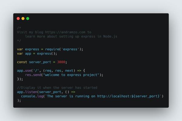 Setup Express in Node.js